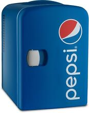 Pepsi Mini Fridge Cooler 4 Liter 6 Can Gourmia GMF660 Portable AC DC Power  Blue