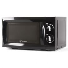 Small Microwave Oven Low Profile Compact Black Kitchen Counter Dorm Room Cookers
