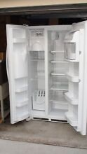 Maytag Amana 26QF Side By Side Refrigerator Freezer ice maker door dispenser