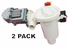 2 Pk  Washer Motor   Pump for Whirlpool Duet  AP3953640  PS1485610  280187