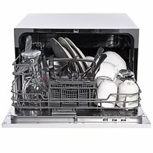 Ivation Countertop Dishwasher   Compact  Portable Stainless Steel Dishwasher