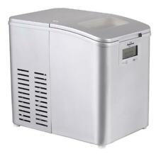 Koolatron Im 26mll Stainless Steel Ice Maker Silver