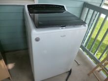 Whirlpool 5 3 cu ft High Efficiency Top Load Washer  White   WTW8040DW