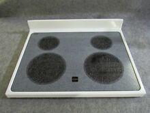 8187867 WHIRLPOOL RANGE OVEN MAIN TOP GLASS COOKTOP WHITE