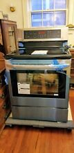 LG lre3194st electric glass top convection range stove new  nos 2014