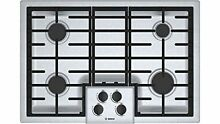 Bosch NGM5055UC 500 30  Stainless Steel Gas Sealed Burner Cooktop