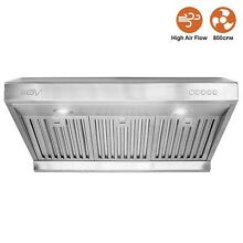 BV Stainless Steel 30  Under Cabinet High Airflow  800 CFM  Ducted Range Hood