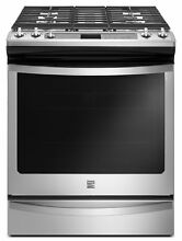 Kenmore 75123 5 8 cu  ft  Gas Range in Stainless Steel  includes delivery and