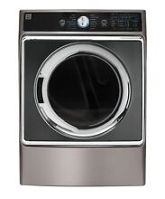Kenmore Elite 9 0 cu  ft  Front Control Gas Dryer w  Accela Steam in Metallic