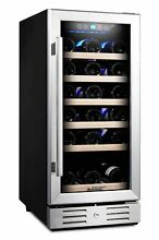 Kalamera 15  Wine Cooler 30 Bottle Built in or Freestanding with Stainless S