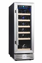 Kalamera 12  Wine Cooler 18 Bottle Built in or Freestanding with Stainless S
