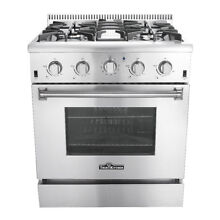 30  Stainless Steel Gas Range Oven Stove 4 Burner Kitchen Cooking Baking Roaster
