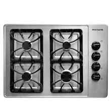 Frigidaire 30  4 Burner Professional Stainless Gas Cooktop FFGC3015LS