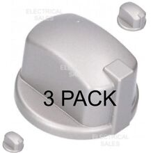 HOTPOINT INDESIT OVEN COOKER KNOB GAS SWITCH SILVER INOX C00284958 GENUINE x 3