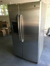 GE Side By Side Refrigerator   25 4 Cu Ft   Stainless