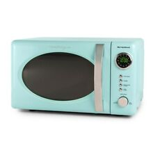 Retro Microwave Oven Aqua Turquoise Teal Vintage Style Countertop Counter Top