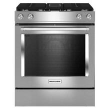 KitchenAid KSDG950ESS 30  4 Burner Dual Fuel Downdraft Slide In Range Convection
