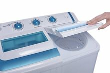 Ivation Small Compact Portable Washing Machine   Twin Tub Washer