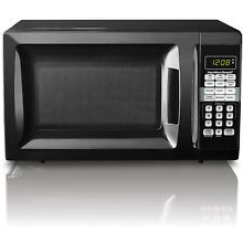 Small Microwave Oven 0 7 Cu  Ft  10 Power Levels LED Display Child Safe  Black