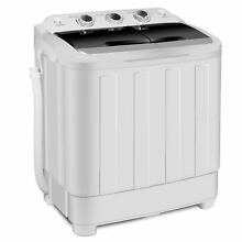 Cleaner Washing Machine Compact Twin Tub Design ABS   PP Frame W  Inlet Pipe