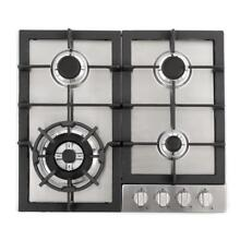 24 In  Gas Cooktop Stainless Steel 4 Sealed Burners Electronic Ignition Kitchen