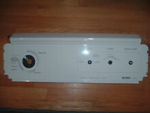 KENMORE 90 SERIES DRYER FACE CONTROL PANEL WHITE PART 3977555 WHT USED