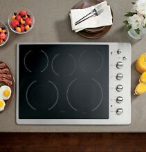 GE CP350ST Stainless Steel 30 in  Electric Electric Cooktop