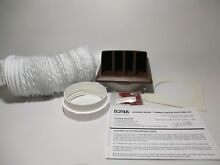 Domus  202B  4  Dryer Cooking Ducting Vent Kit w  Self Closing Cowl   Brown