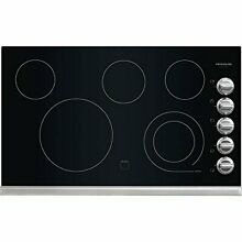Frigidaire Gallery 36  Stainless Black Electric Smoothtop Cooktop FGEC3645PS