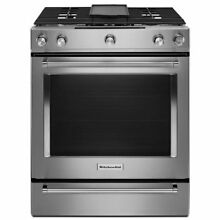 KitchenAid 30  Stainless Steel Dual Fuel Slide In Range KSDB900ESS