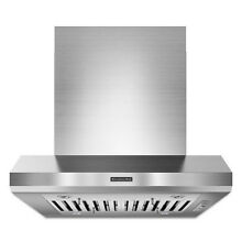 KitchenAid KXI9736YSS 36  Island Mount Chimney Range Hood Stainless