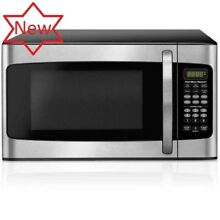 Hamilton Beach 1 1 Cu  Ft  Microwave Oven  Stainless Steel  LED Display  Kitchen
