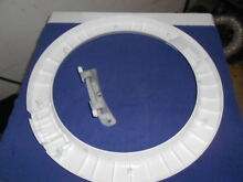 137265500  134550800 Kenmore Front Load Washer Outer Door Panel With Hinge