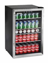 Small Refrigerator Personal Mini Fridge Home Bar Beverage Cooler with Glass Door