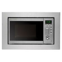 Cookology BIM20LWG Stainless Steel 20L 800W 60 x 38cm Built in Microwave   Grill