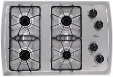 NEW  Whirlpool W3CG3014XS 30  Gas Cooktop  Stainless Steel   NEW