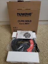 NUWAVE PRECISION INDUCTION COOKTOP MODEL NO 30211 BLACK PIC GOLD PORTABLE BURNER