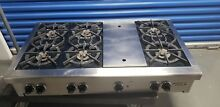 Wolf RT486G Gas Rangetop with 6 Burners and Griddle