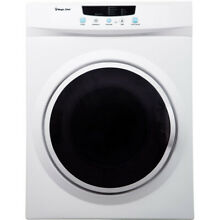 Magic Chef 3 5 Cu  Ft  Compact Electric Dryer in White