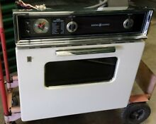 Vintage GE Wall Oven 27  Sand or Almond Color Working