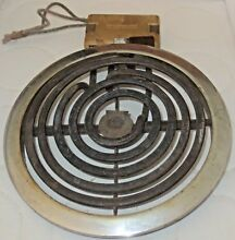 1950 s General Electric Stove BURNER ELEMENT 5 3 4  base Plug Base STROTOLINER
