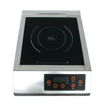 13 In  Glass Induction Cooktop Stainless Steel 1 Element Single Burner Digital