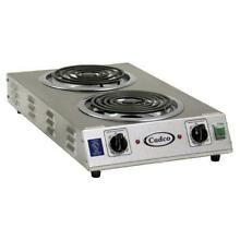 Cadco CDR 2TFB Portable Hot Plate  countertop  electric