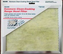 Kenmore Clean Cooking Range Hood Filter 50183 10 1 2  x 8 3 4  x 3 8   QTY 3