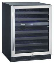 46 Bottle Dual Zone Wine Cooler in Black and Stainless Finish  ID 3488215