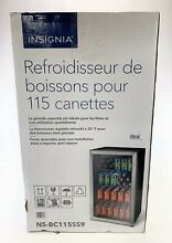 Insignia 115 Can Beverage Cooler Stainless Steel  NSBC115SS9  NEW Local Pick Up