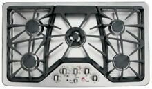 NEW  GE CGP650SETSS Cafe Series 36  Gas Cooktop  Stainless Steel   NEW