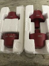 BRAND NEW  WOLF STOVE   RANGE   OVEN   KNOBS   RED  4