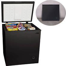 5 0 Cu Chest Deep Freezer Upright Compact Arctic King Black Space Saving