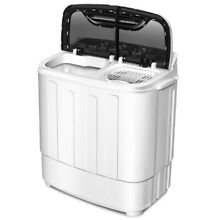 Compact Washing Machine Mini Laundry Apartment Dorm Twin Tub Washer Spinner 8Lbs